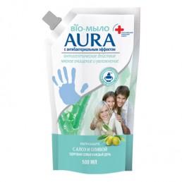 AURA Bio-мыло с антибактериальным эффектом 500мл Алоэ и олива