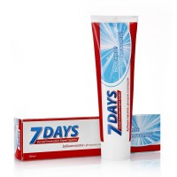 7 DAYS зубная паста 100мл бережное отбеливание