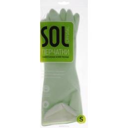 SOL CRYSTAL перчатки универсальные хозяйственные Размер S