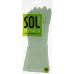 SOL CRYSTAL перчатки универсальные хозяйственные Размер M
