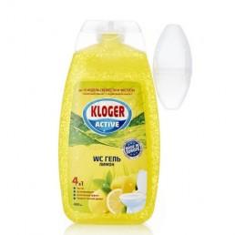 KLOGER Туалетный гель 4в1 с подвеской 400мл Лимон