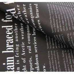 Бумага упаковочная 60 х 60 см Газета серая
