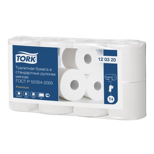 TORK Туалетная бумага 2сл 8шт Система Т4 (12 03 20)