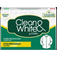 CLEAN&WHITE мыло хозяйственное 125г отбеливающее