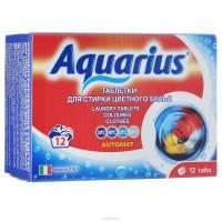 AQUARIUS Таблетки для стирки цветного белья 12шт