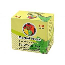 MARKET FRESH Зубочистки с освеж. ментолом в инд. упак. 500шт