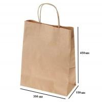 Пакет крафт с петлевой ручкой 350х150х450 (№6)