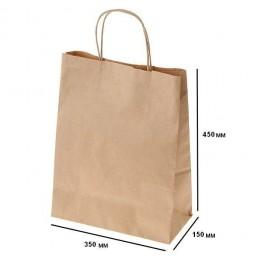 Пакет крафт 350х150х450 с петлевой ручкой (№6)