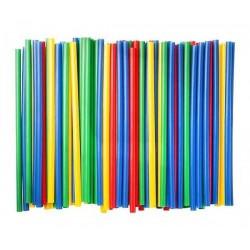 Трубочки прямые мини для напитков 400шт цветные