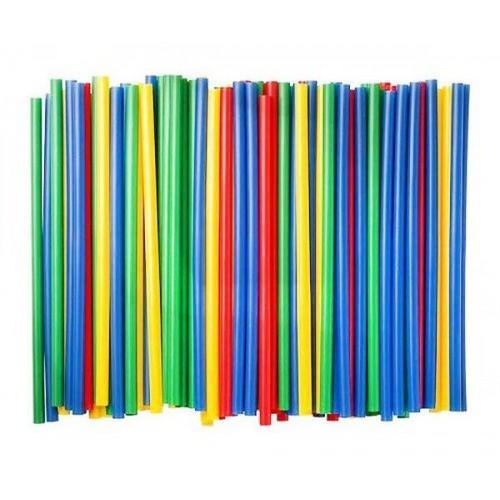 Трубочки для напитков 5х125мм МИНИ 400шт Цветные