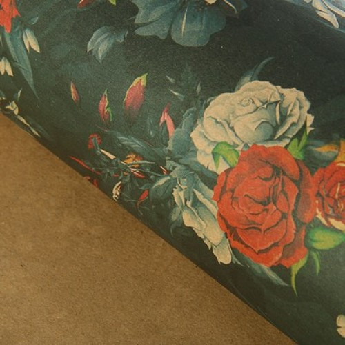 Бумага упаковочная крафт Цветочные тени 70 х 100 см