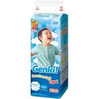 Nepia Genki! Детские подгузники для мальчиков и девочек, размер XL, 12-17кг 44шт