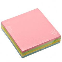 Листочки самоклеющиеся блок 4 цветные, 76х76 200л