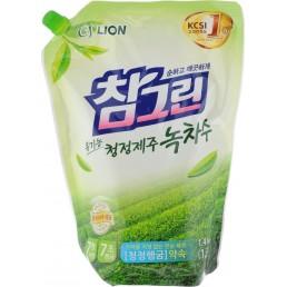 CHAMGREEN Средство для мытья посуды, овощей и фруктов 1,4л Зеленый чай