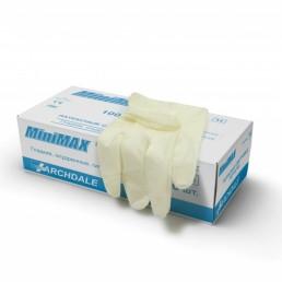 МИНИМАКС Перчатки латексные опудренные 100шт XL