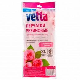 ВЕТТА перчатки резиновые с ароматом розы XL
