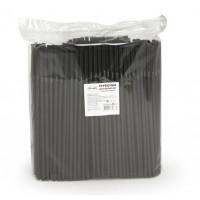 Трубочки гофра для напитков 250шт 5х210мм чёрные
