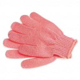 Мочалка-перчатка массажная однотонная 18*14 см микс