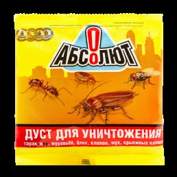 АБСОЛЮТ Дуст для уничтожения тараканов, блох, клопов 100г