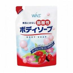 WINS MILD ACIDITY Смягчающее крем-мыло для тела 400мл Шиповник