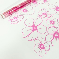 PAKETTI Пленка декоративная матовая 0,72х7,5м 40мкм Лепестки розовые