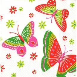 ЛИЛИЯ салфетки бумажные 33х33 2сл 20шт бабочки