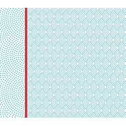 ЛИЛИЯ салфетки бумажные 33х33 2сл 20шт бирюзовые ракушки
