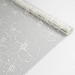 PAKETTI Пленка декоративная матовая 0,72х7,5м 40мкм Лепестки белые