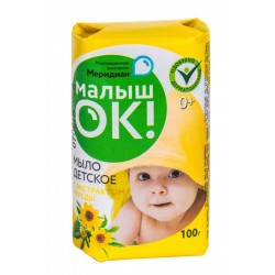 МАЛЫШОК Мыло детское 100г с экстрактом череды