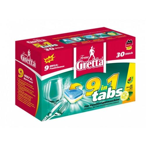FRAU GRETTA Таблетки для посудомоечных машин 30шт