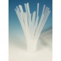 Соломка (трубочка) для напитков прямая, прозрачная д-8мм, длина 240мм