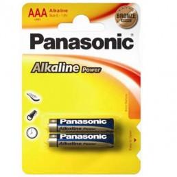 PANASONIC Батарейки алкалиновые ААА 1.5V 2шт