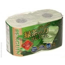 PENGUIN PREMIUM туалетная бумага 3сл 2рул зеленый чай