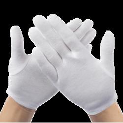 Перчатки хлопковые белые 12пар