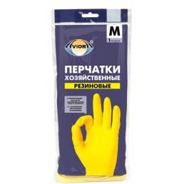АВИОРА перчатки хозяйственные резиновые 1пара M