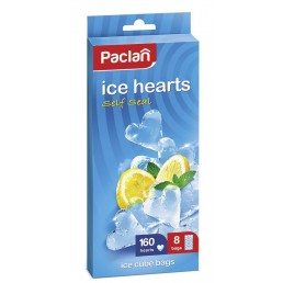 ПАКЛАН Пакетики для льда в форме сердечек 8пак
