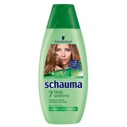 SCHAUMA Шампунь для нормальных и жирных волос 380мл 7 трав