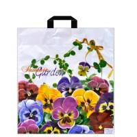 Пакет с петлевой ручкой 38х42см Летний сад