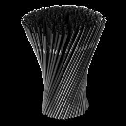 Трубочки для напитков 8х240мм, гофра, 250шт Черные