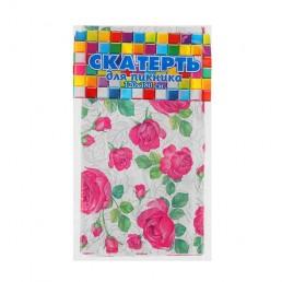 ИНТЕРПАК Скатерть для пикника 120х180см Розовые розы