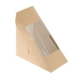 Контейнер бумажный для сендвича КРАФТ 120х120х70