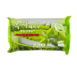 JUNO Мыло с отшелушивающим эффектом 150г Зеленый чай