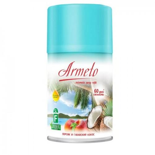 ARMETO Универсальный сменный аэрозольный баллон 250мл Персик и гавайский кокос