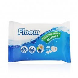 FLOOM Влажная туалетная бумага 40л