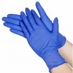 BI-SAFE Перчатки нитриловые неопудренные 100шт L Синие