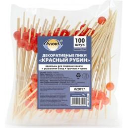 АВИОРА Декоративные пики КРАСНЫЙ РУБИН 12см 100шт