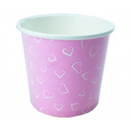Креманка бумажная для мороженого 150мл 50шт Сердца