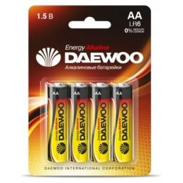 DAEWOO Батарейки алкалиновые AA LR6 4шт