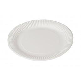 Тарелка бумажная д-190мм 50шт Белая