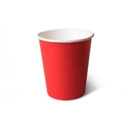 Стакан бумажный одноразовый 165мл д-70мм 50шт Красный